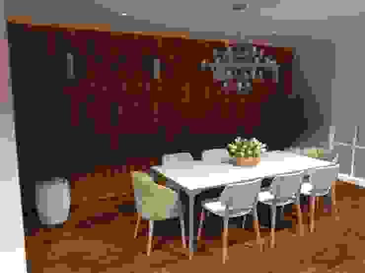 Sala de jantar - salão de festas gourmet Salas de jantar modernas por Aline Mozzer Arquitetura Moderno MDF