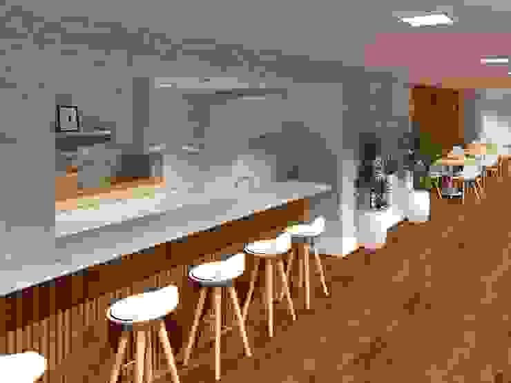 Salão de Festas gourmet - Cozinha Cozinhas modernas por Aline Mozzer Arquitetura Moderno Mármore