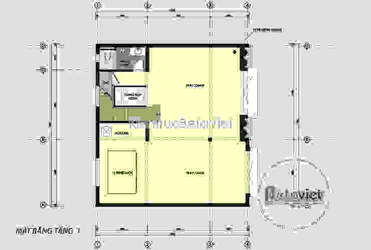 Mặt bằng tầng 1 mẫu thiết kế biệt thự đẹp 4 tầng Tân cổ điển đẹp lung linh (CĐT: Ông Chiến - Hà Nội) KT18050 bởi Công Ty CP Kiến Trúc và Xây Dựng Betaviet