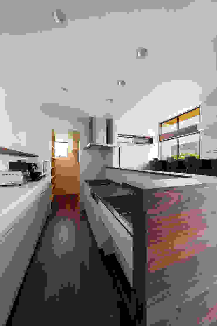 一級建築士事務所haus Módulos de cocina Madera Blanco