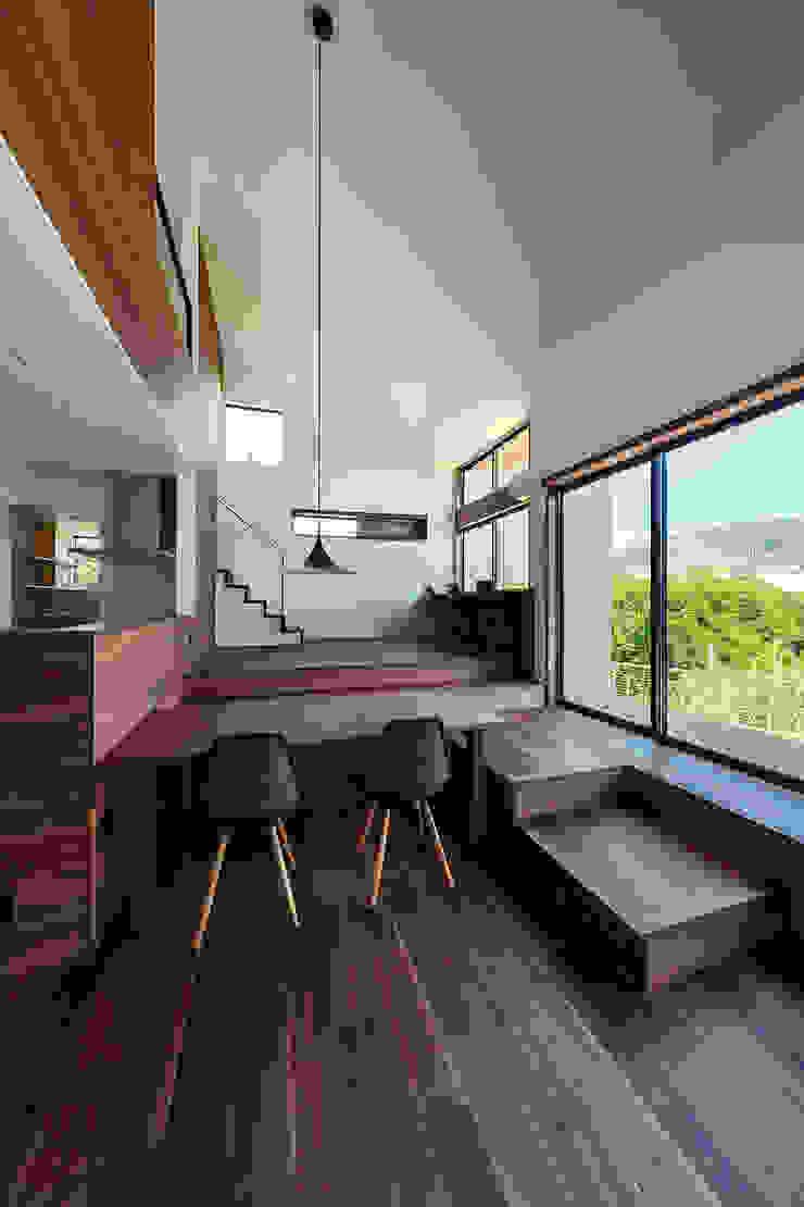 一級建築士事務所haus Comedores de estilo moderno Madera Blanco