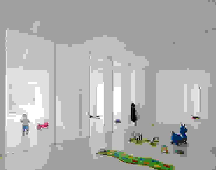 5 Minimalist corridor, hallway & stairs by JAN RÖSLER ARCHITEKTEN Minimalist