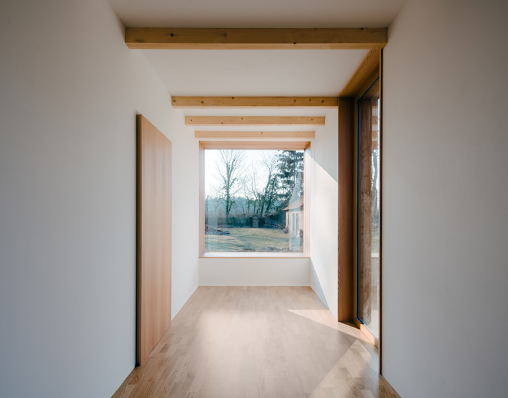 4 Modern Corridor, Hallway and Staircase by JAN RÖSLER ARCHITEKTEN Modern Wood Wood effect