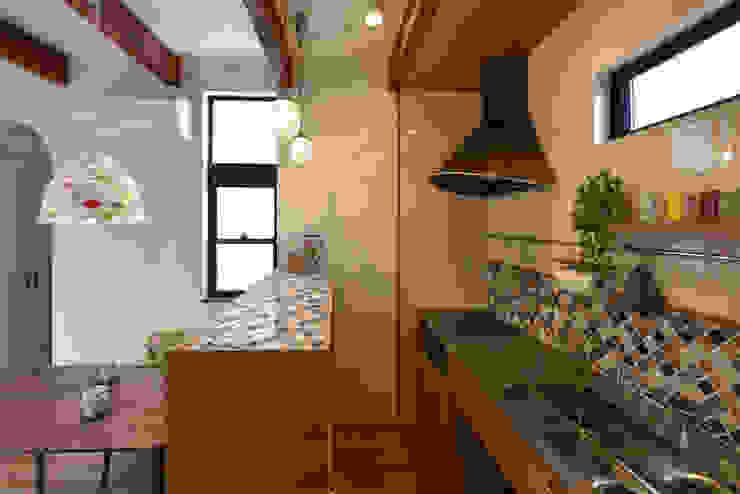A&A 北欧デザインの キッチン の BDA.T / ボーダレスドロー 北欧 木 木目調