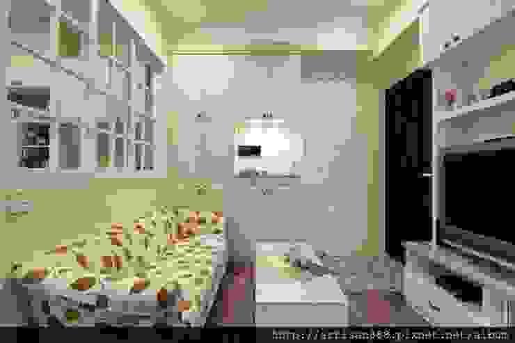 Pasillos, vestíbulos y escaleras de estilo rural de 芸匠室內裝修設計有限公司 Rural