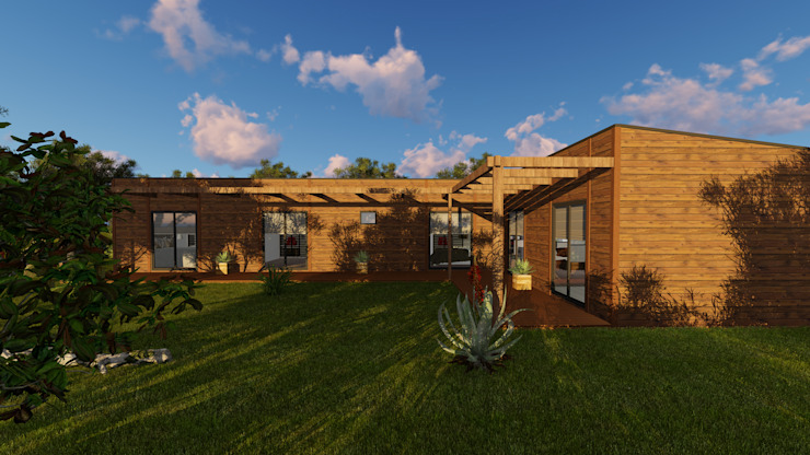Discovercasa | Casas de Madeira & Modulares Prefabricated home Solid Wood Brown
