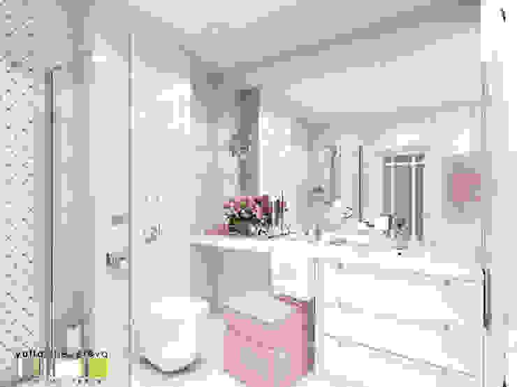 Аромат орхидеи Ванная комната в эклектичном стиле от Мастерская интерьера Юлии Шевелевой Эклектичный