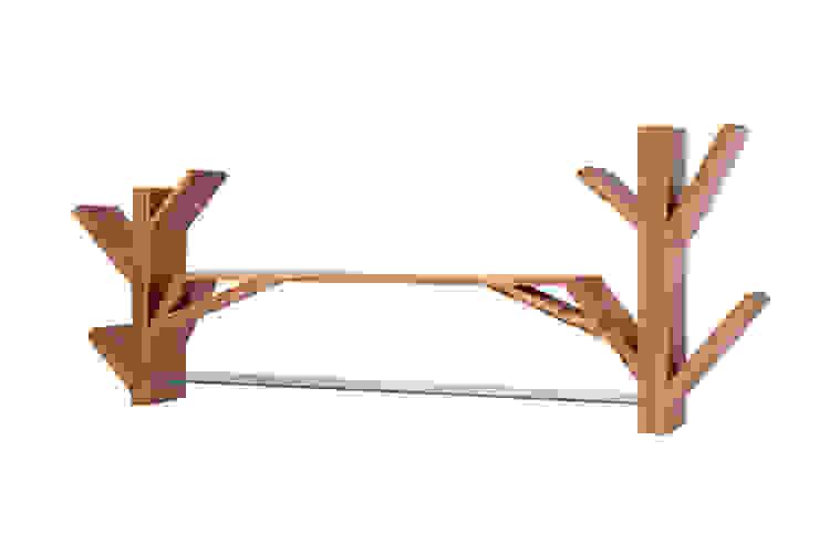 Hunikus SoggiornoScaffali Legno massello Effetto legno