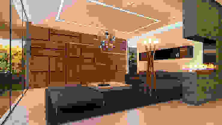 Besana Studio Modern living room Beige