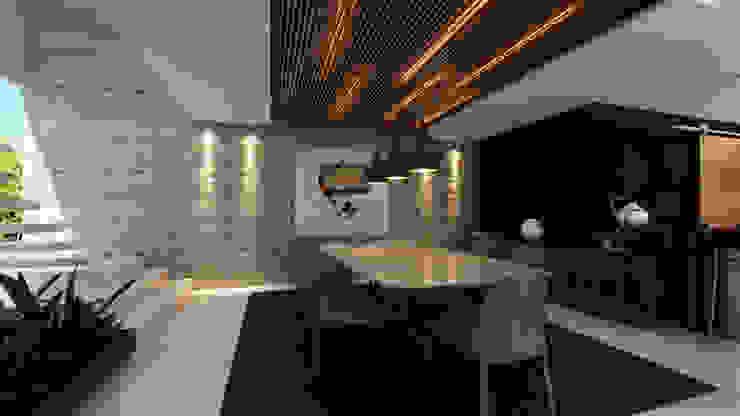 Besana Studio Modern dining room Wood White