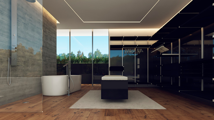 Besana Studio Modern bathroom Tiles Multicolored