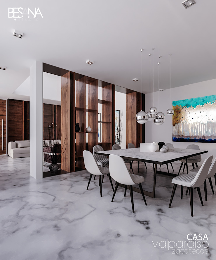 Besana Studio Modern dining room White