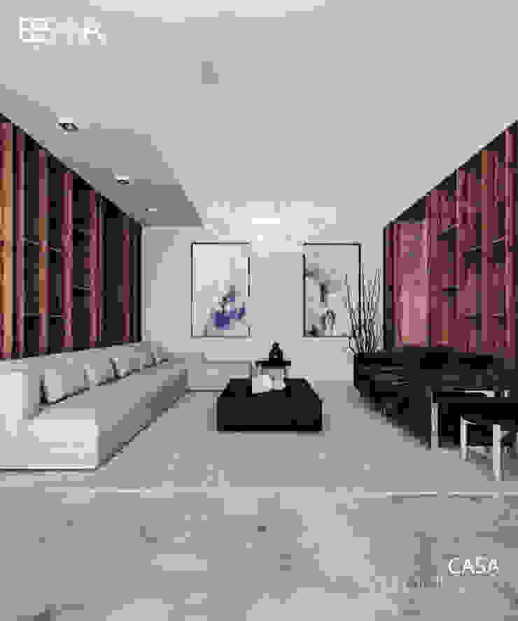 Besana Studio Modern living room White