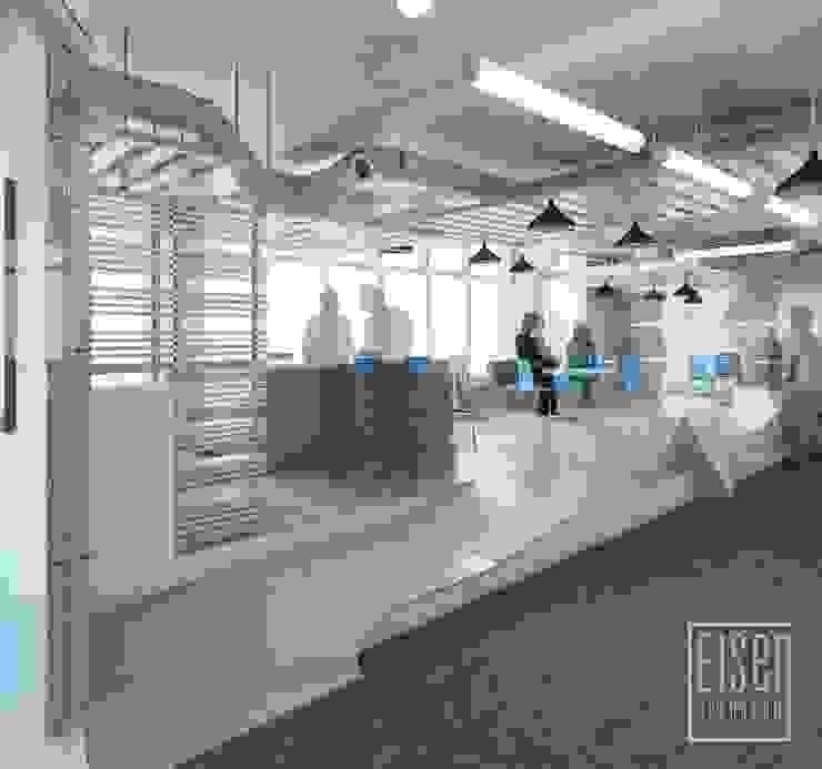Coffe y Loungue. Espacio del Deck. Oficinas de estilo escandinavo de Eisen Arquitecto Escandinavo Madera Acabado en madera