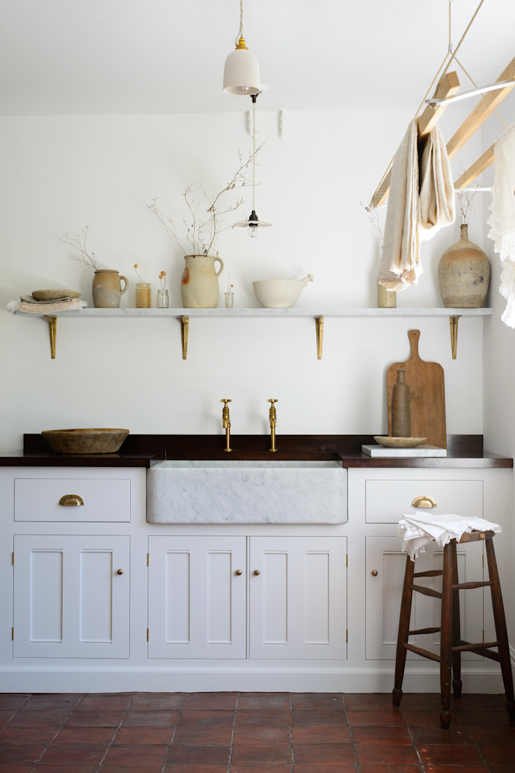 The Millhouse Scullery by deVOL by deVOL Kitchens Mediterranean Solid Wood Multicolored