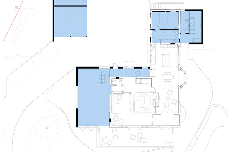 Ground Floor Plan for Extensions & Reconfigurations ArchitectureLIVE