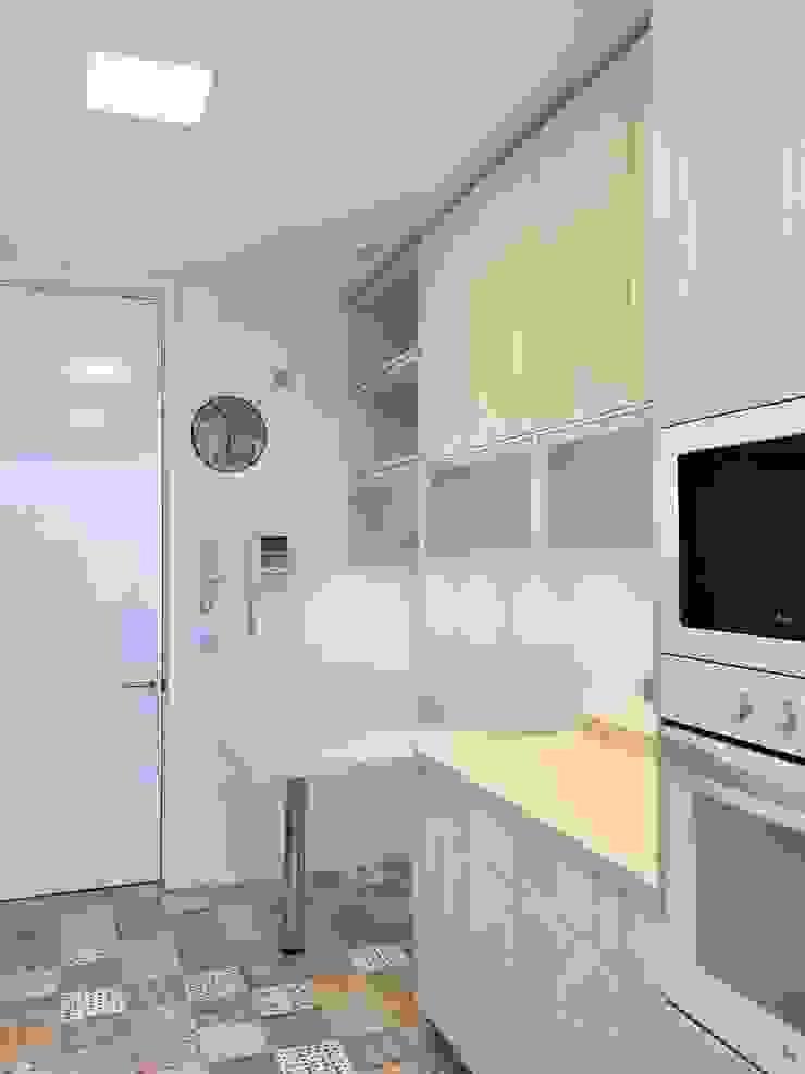 Vista hacia acceso de cocina de balConcept SpA Moderno
