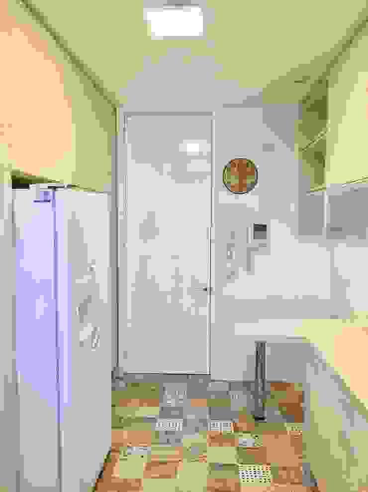 Vista hacia el acceso de cocina 2 de balConcept SpA Moderno