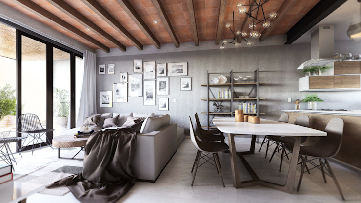 Salle à manger moderne par Mouret Arquitectura Moderne