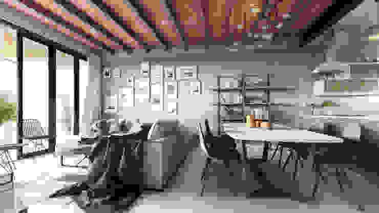 غرفة السفرة تنفيذ Mouret Arquitectura