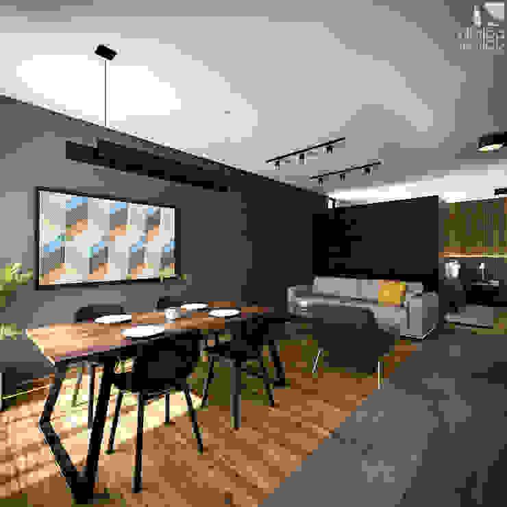 Interior Villalba Palau Arquitectos Salones minimalistas