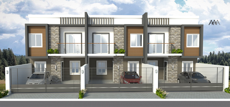 3 UNIT Townhouse in Paranaque by AAA Architects and Interiors
