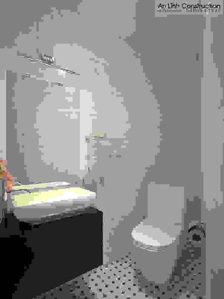 Nhà vệ sinh bởi CÔNG TY THIẾT KẾ XÂY DỰNG AN LĨNH