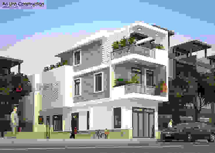 Công trình nhà phố ANH TRÍ ở quận 9 bởi CÔNG TY THIẾT KẾ XÂY DỰNG AN LĨNH