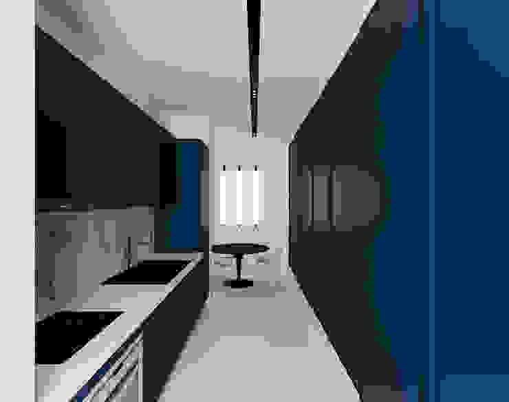 Casa XXS - kitchen Cozinhas minimalistas por Makers Embassy Minimalista