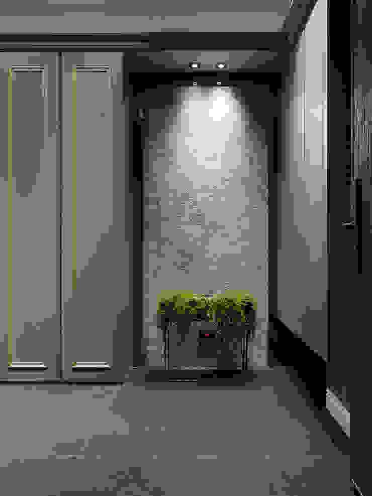 現代與古典的碰撞 經典風格的走廊,走廊和樓梯 根據 御見設計企業有限公司 古典風 大理石