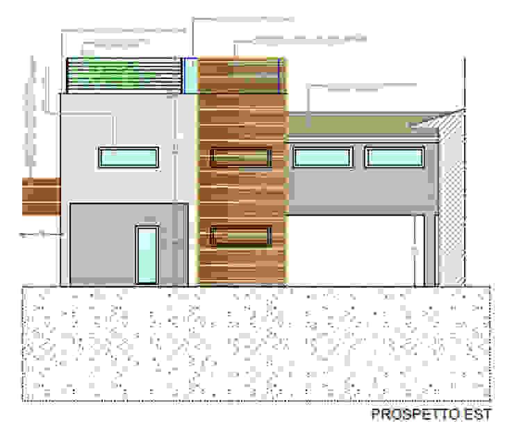 Ristrutturazione e ampliamento Architetti Baggio Villa a schiera Legno Bianco