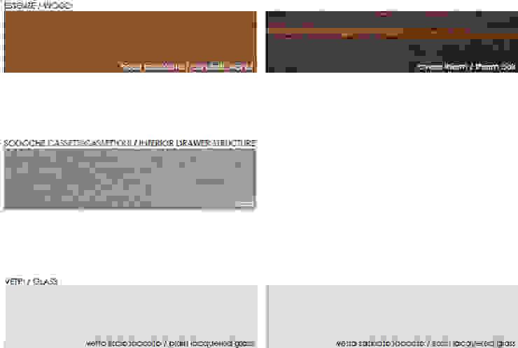 kleurgebruik meubels: modern  door Kroneman Interieurs, Modern Hout Hout