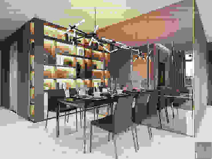 Thiết kế phong cách hiện đại tiện nghi cho căn hộ Park 7 Vinhomes Central Park Phòng ăn phong cách hiện đại bởi ICON INTERIOR Hiện đại