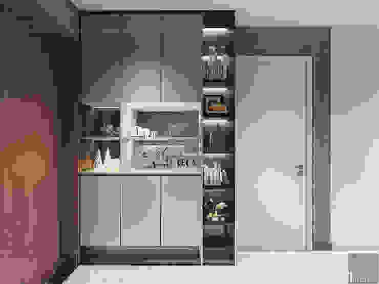 Thiết kế phong cách hiện đại tiện nghi cho căn hộ Park 7 Vinhomes Central Park bởi ICON INTERIOR Hiện đại