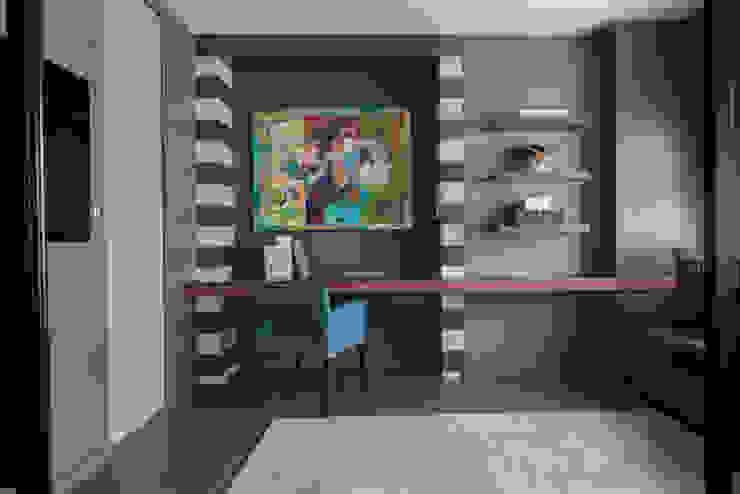 Fitzrovia Apartment - Open-plan Guest Bedroom and Work Space Roselind Wilson Design Oficinas y bibliotecas de estilo moderno