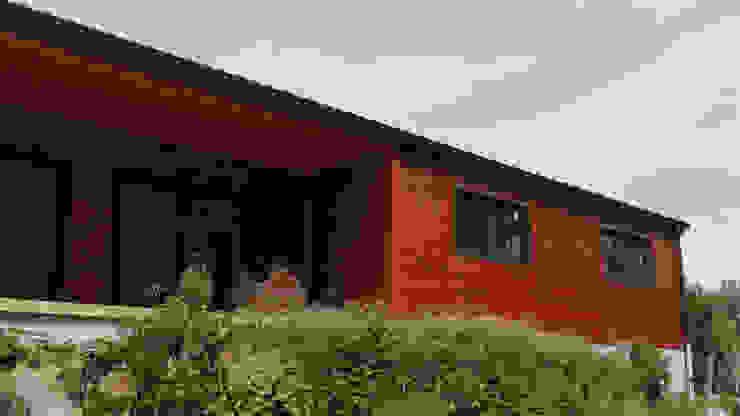 par Discovercasa | Casas de Madeira & Modulares Moderne Bois massif Multicolore