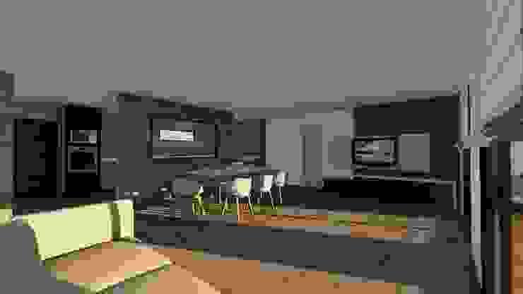 Modelo | T4 167m²: Casas de madeira  por Discovercasa | Casas de Madeira & Modulares