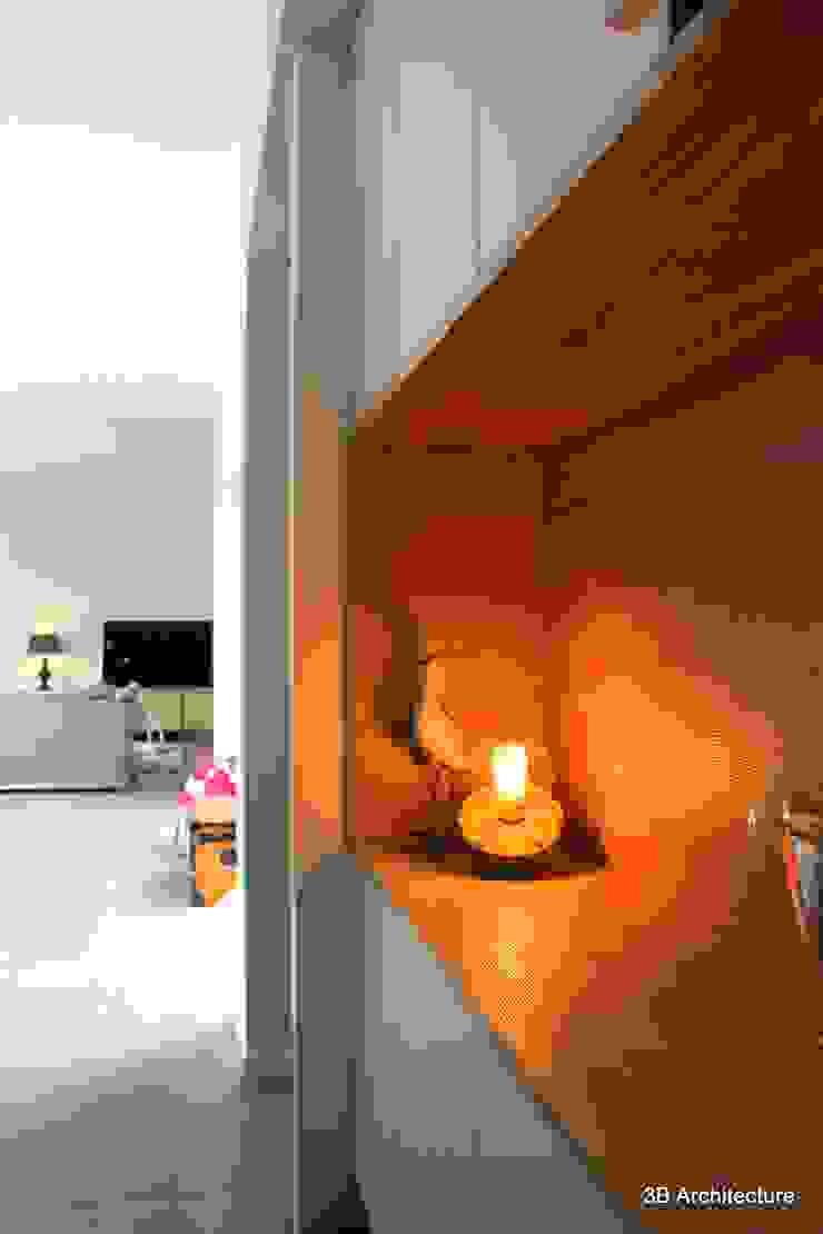 Aménagement de mobilier d'entrée Couloir, entrée, escaliers minimalistes par 3B Architecture Minimaliste Bois Effet bois