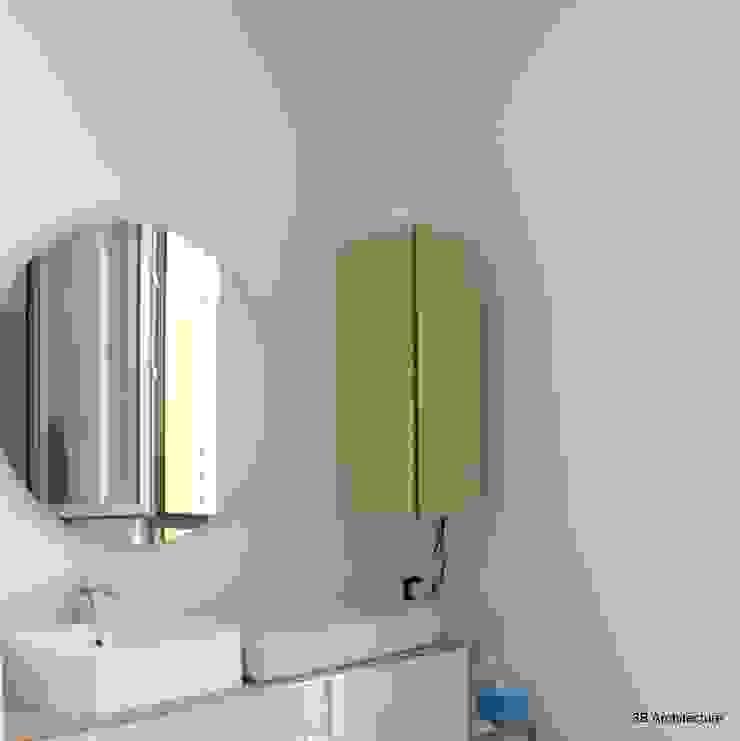 Salle d'eau parentale Salle de bain minimaliste par 3B Architecture Minimaliste