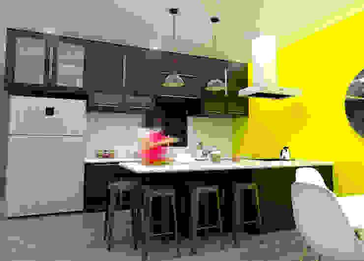 Render Cocina Cocinas de estilo moderno de Osuna Arquitecto Moderno