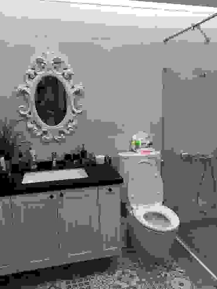 三樓主臥浴室: 斯堪的納維亞  by 懷謙建設有限公司, 北歐風