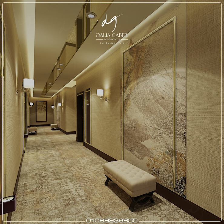 Hotel Corridor  by Dalia Gaber : حديث  تنفيذ DeZign center office by Dalia Gaber , حداثي