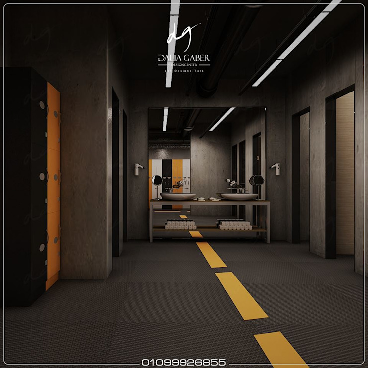 Hotel Men Gym by Dalia Gaber: حديث  تنفيذ DeZign center office by Dalia Gaber , حداثي