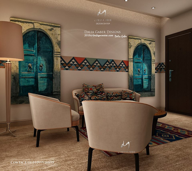 rustic  by DeZign center office by Dalia Gaber , Rustic