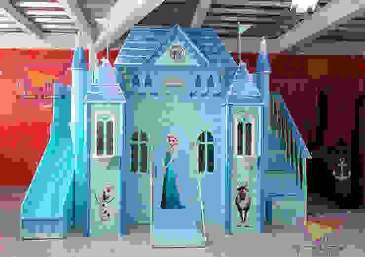 Clásico y precioso castillo de Frozen de camas y literas infantiles kids world Clásico Derivados de madera Transparente