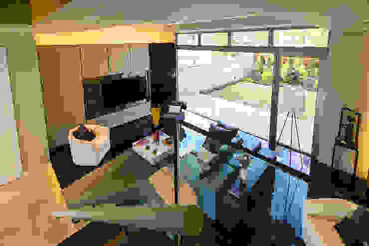 villa green Modern living room by wayne corp Modern