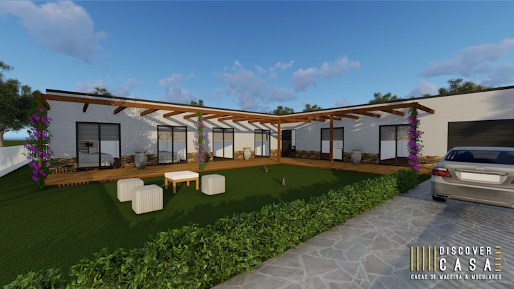 Discovercasa | Casas de Madeira & Modulares Chalets & maisons en bois Bois massif Blanc