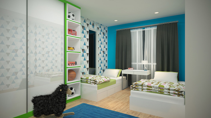 homify Tropical style bedroom