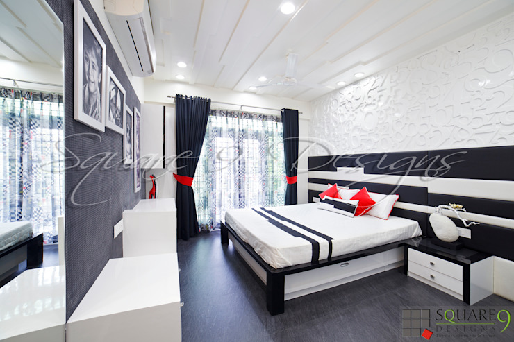BOY'S BEDROOM Modern style bedroom by Square 9 Designs Modern