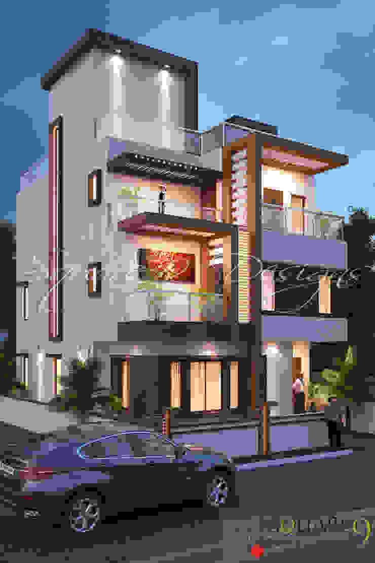 TARIQ KAMAL BUNGALOW Minimalist houses by Square 9 Designs Minimalist
